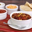 Stock Photo: Taco Soup with assorted condiments