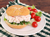Seafood Salad Sandwich on Hard Roll — Stock Photo