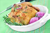 Roasted Hen Close Up — Stock Photo