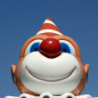 Stock Photo: Figurine funny clown with red nose