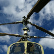 Modern military helicopters closeup - Stock Photo