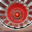 Large jet engine detail viewed from below — Stock Photo
