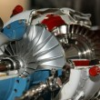 Large jet engine detail viewed from below — Stock Photo #10137812