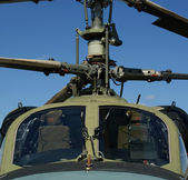 Modern military helicopters closeup — Stock Photo