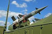 Modern Russian anti-aircraft missiles 5V27DE — Stock Photo