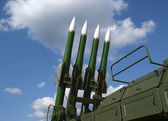Modern Russian anti-aircraft missiles — Stockfoto