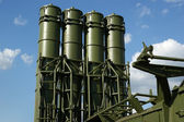 Modern Russian anti-aircraft missiles OSA-AKM — Stock Photo