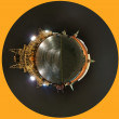 Spherical panorama of the night Red square. Moscow, Russia — Stock Photo #10167255