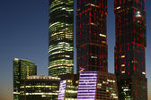 Skyscrapers International Business Center (City) at night — Stock Photo