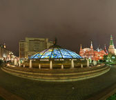 Panorama Manege Square at night, Moscow, Russia — Stock Photo
