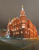 Museo storico di stato. panorama di notte. mosca, russia — Foto Stock