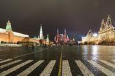 Nacht rode plein. moskou, rusland — Stockfoto