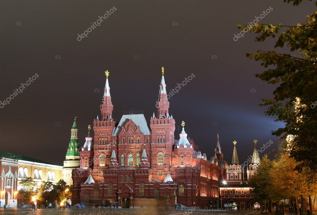 Night Red square. Moscow, Russia — Stock Photo #10167399