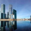 Panorama of the international business centre (City), Moscow, Russia — Stock Photo