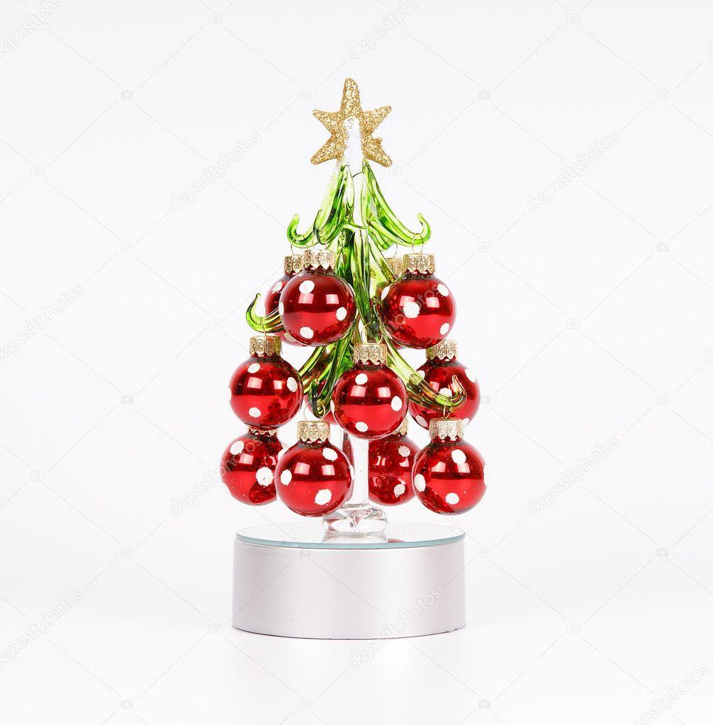 Rbol de navidad decorado con bolas rojas foto de stock for Arbol de navidad con bolas rojas