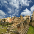 Ancient Greek APOLLO'S TEMPLE . Syracuse, Sicily, Italy — Stock Photo