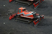 Snowplough or snowplow, Mount Etna, Sicily, Italy — Foto Stock