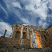 The Ancient theatre of Taormina, southern Italy — Stock Photo