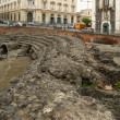 Catania Roman Amphitheatre, Sicily, southern Italy — Stock Photo