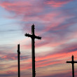Cross Silhouette against dramatic Sky — Stock Photo