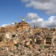 View of a typical ancient city, Sicilia, Agrigento Province - Stock Photo