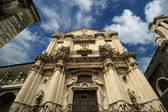 Catholic church of Catania. Sicily, southern Italy — Stock Photo