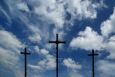 Cross Silhouette against dramatic Sky — ストック写真