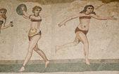 Mosaic fragment Roman Villa Romana del Casale, Sicily — Stock Photo