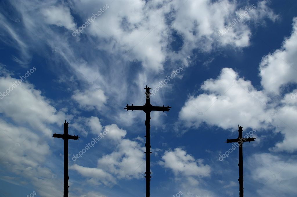 Cross Silhouette against dramatic Sky — Stock Photo #9008527