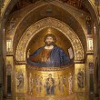 The Christ Pantokrator. Cathedral-Basilica of Monreale, Sicily — Stok fotoğraf