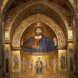 The Christ Pantokrator. Cathedral-Basilica of Monreale, Sicily — 图库照片