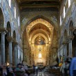 The interior Cathedral-Basilica of Monreale, Sicily — Stock Photo
