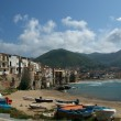 View of the Cefalu waterfront. Sicily, Italy. — Stock Photo #9012309