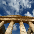 Classic Greek (Doric) Temple at Segesta in Sicily - Stock Photo