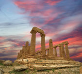 Ancient Greek Temple of Juno, Agrigento, Sicily — Stock Photo