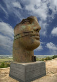 The statue in the archeological area of Agrigento, Sicily, Italy — Stock Photo
