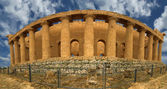 Panorama Ancient Greek temple of Concordia, Agrigento, Sicily — Stock Photo