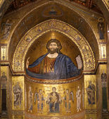 The Christ Pantokrator. Cathedral-Basilica of Monreale, Sicily — Stock Photo