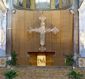Interiör katedralen-basilikan i cefalu, sicilien, italien — Stockfoto
