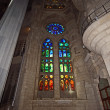 Royalty-Free Stock Photo: Stained glass window at the entrance of the Sagrada Familia