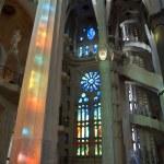 Inside of Sagrada Familia in Barcelona, Spain — Stock Photo #9878188