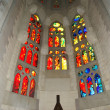Stained glass window at the entrance of the Sagrada Familia — Stock Photo #9878231