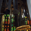 Inside of Sagrada Familia in Barcelona, Spain — Stock Photo