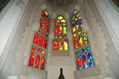 Stained glass window at the entrance of the Sagrada Familia — Stock Photo