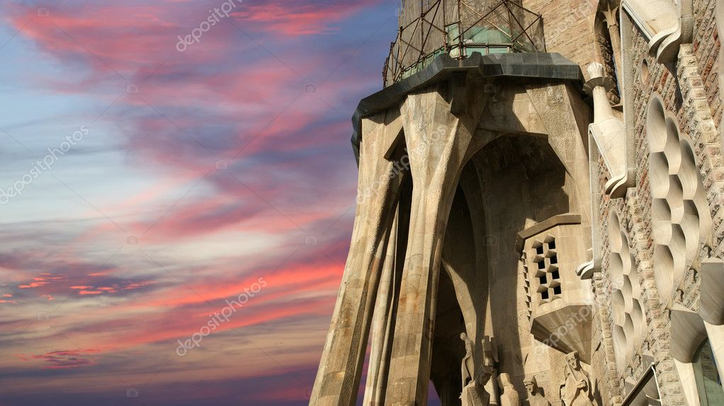 Sagrada Familia by Antoni Gaudi in Barcelona Spain — Stock Photo #9878542