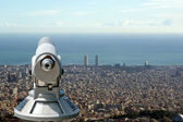 View of Barcelona from the Tibidabo hill — Stock Photo