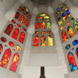Stained glass window at the entrance of the Sagrada Familia — Stock Photo #9896008