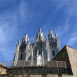 Tibidabo temple, at the top of tibidabo hill, Barcelona, — Stock Photo #9897162