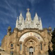 Tibidabo temple, at the top of tibidabo hill, Barcelona, — Stock Photo #9897208