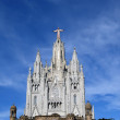 Tibidabo temple, at the top of tibidabo hill, Barcelona, — Stock Photo